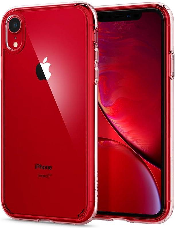 【Spigen】 スマホケース iPhone XR ケース 対応 全面クリア 耐衝撃 米軍MIL規格取得 ウルトラ・ハイブリッド 064CS24873 (クリスタル・クリア)