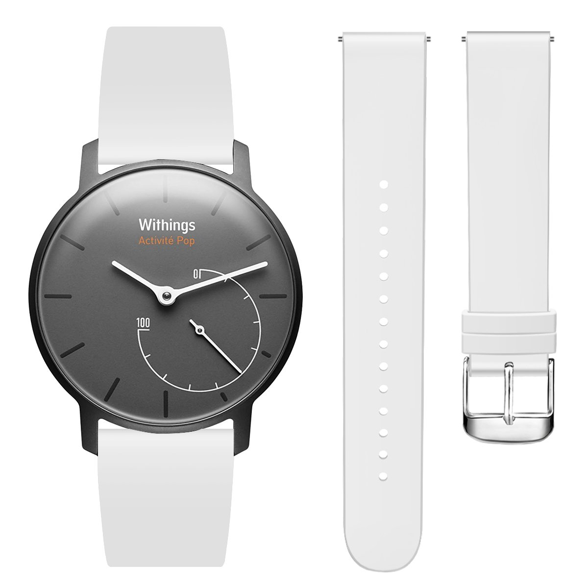 Hanlesi Withings Steel HR Band, Soft Silicone Sport Fashion Replacement Band for Withings Steel Withings Activity Tracking Watch White