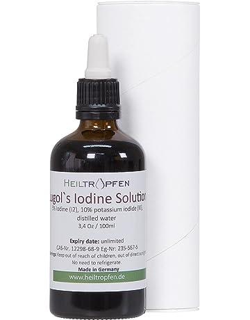 Yodo Lugol solución, 100 ml. Hecho con yodo al 5% y yoduro de