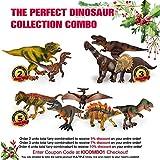 Kids Imaginative Dinosaurs Small & Large Plastic Assorted Toy Dinosaurs | 12 Piece Set, 5-7
