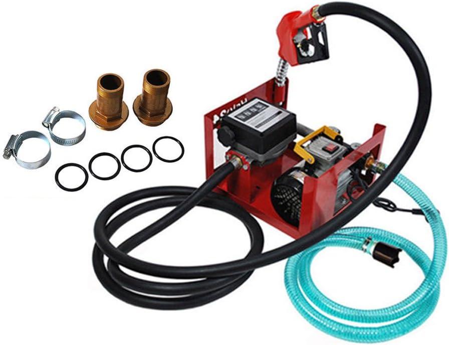 Kit de dispensador de bomba de combustible diésel eléctrico de transferencia de combustible, boquilla de combustible/aceite, bomba de biodiésel, 550 W, 60 l