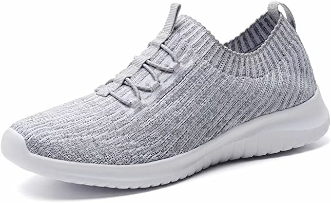 Amazon.com | LANCROP Women's Athletic Walking Shoes - Casual Knit  Lightweight Running Slip On Sneakers | Walking