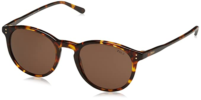 POLO Mens 0PH41103473 Sunglasses, Shiny Antique Havana/Brown, 50 Ralph Lauren