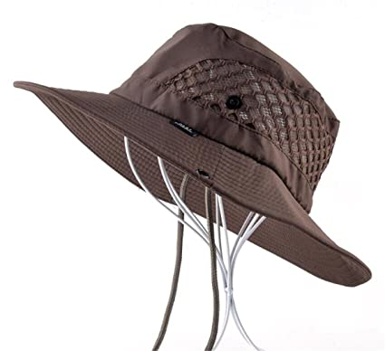 Summer Bucket Hat Breathable Mesh Beach Hats Man Wide Brim Sun Gorra Mujer Mens Outdoors Foldable