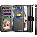 Spritech for Galaxy Note 9 PU Leather Case, for Samsung Note 9 Wallet Case,Luxury Cash Credit Card Slots Holder Carrying Flip Cover [Detachable Magnetic Hard Case]
