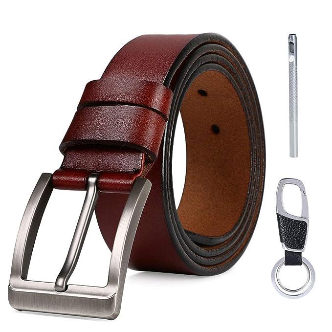 flintronic Cinturón Cuero Hombre, 125cm Cinturón con Reversible ...