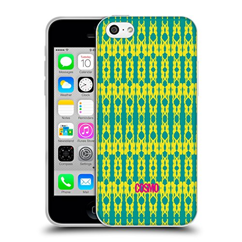 Official Cosmopolitan Yellow Green Boho Patterns Soft Gel Case for Apple iPhone 5c
