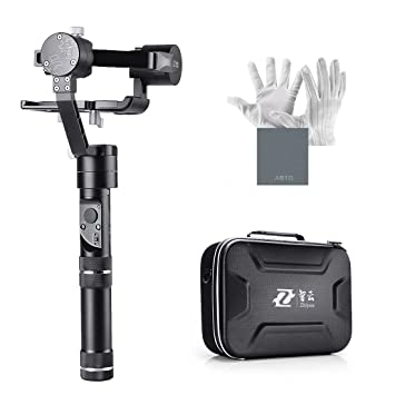 Zhiyun Crane-M 3 axis Brushless Handheld Gimbal - Tres MCU de 32 bits Rotación ilimitada de 360 grados 12 horas de tiempo de funcionamiento 125 ga 650 ...