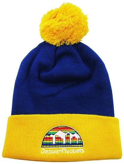 ba9da9462e68e Amazon.com   Denver Nuggets Cuffed Pom Knit Cap   Beanie   Sports ...