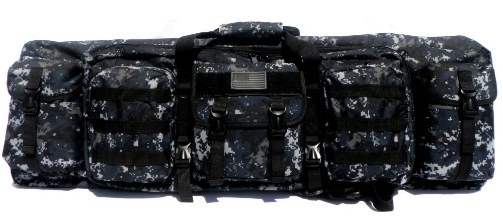 """East West U.S.A. RTGC604L 42"""" Double Tactical Molle Soft Padded Rifle Long Hunting Bag, Camo, Large"""