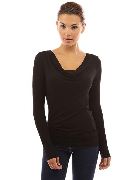 Großhandelspreis an vorderster Front der Zeit Sortendesign PattyBoutik Damen Wasserfallausschnitt rückenfreie Bluse Twinset mit  Schnalle und Langen Ärmeln