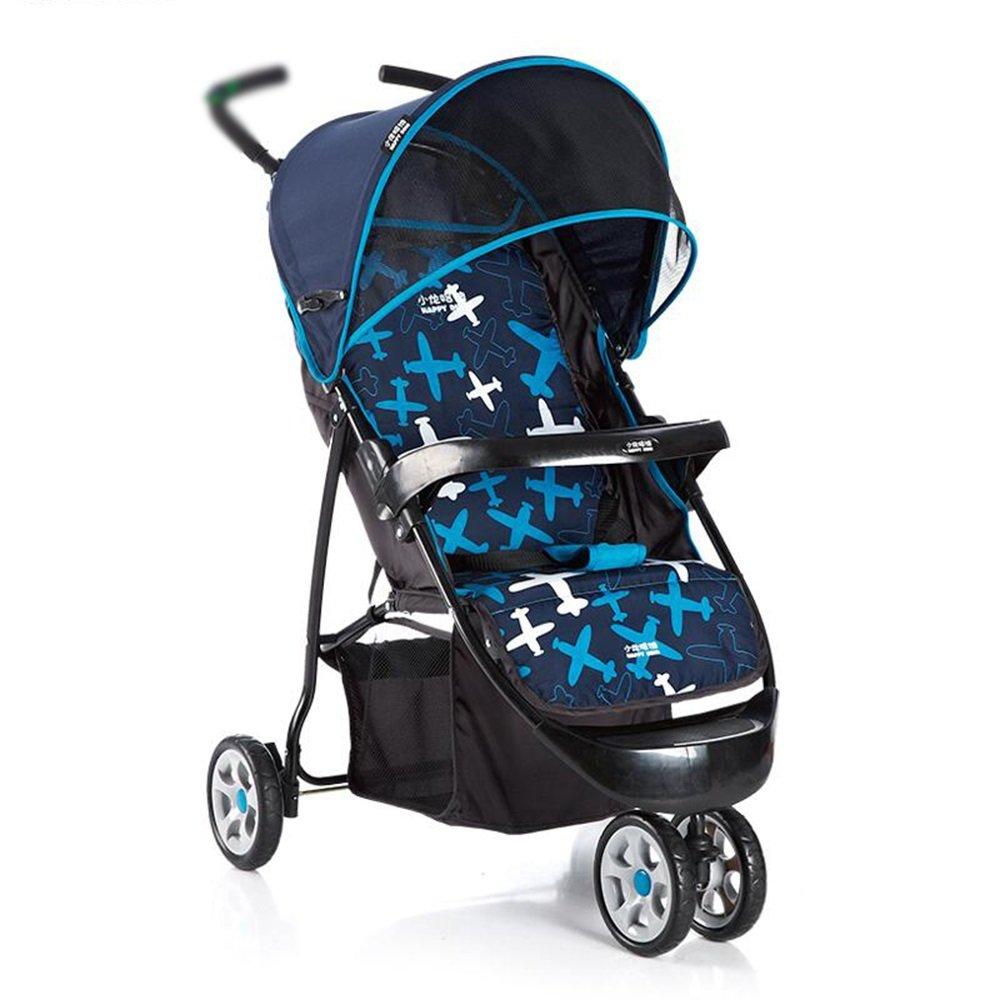 2019春の新作 乳母車 : ベビートロリー子供の三輪車の折りたたみポータブルベビートロリー 使いやすい (色 B07HQ8CXB1 乳母車 : 青) 青 B07HQ8CXB1, ミッドナイン:26b47dd6 --- a0267596.xsph.ru