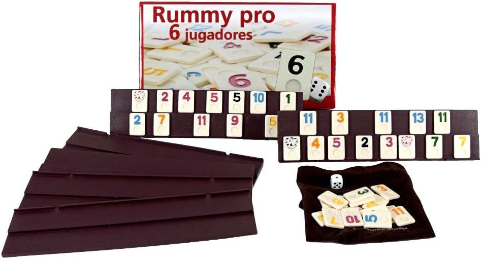 Juego Rummikub 6 jugadores. 106 fichas de plastico macizo: Amazon ...