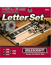 Milescraft 2202 1-1/2-Inch Horizontal Character Template Set for Milescraft Sign Making System