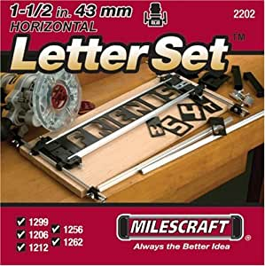 Milescraft 2202 1 1 2 inch horizontal for Router lettering templates