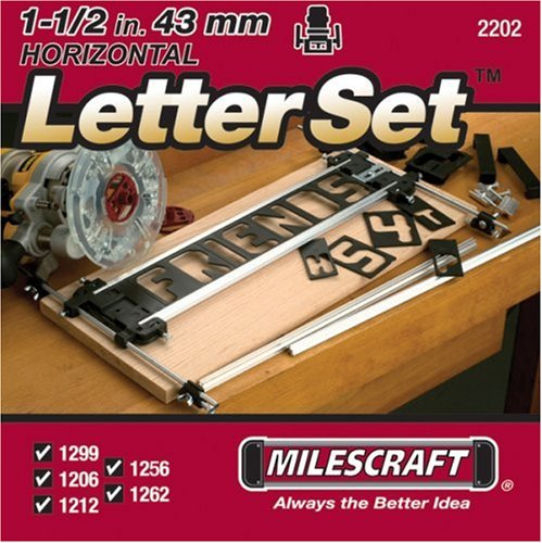Milescraft 2202 1-1/2-Inch Horizontal Character Template Set for Milescraft Sign Making (Jig Blanks)
