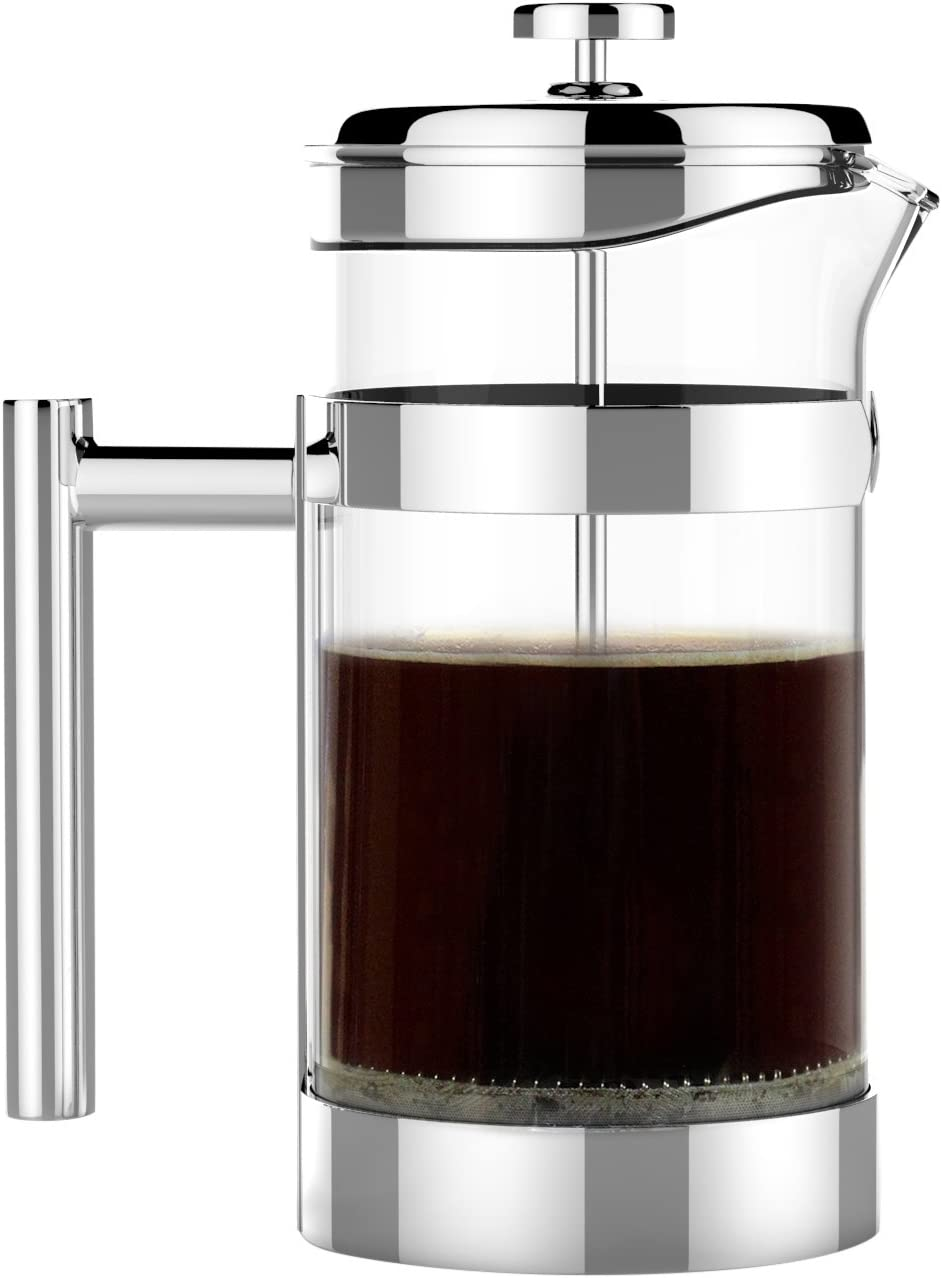 The Original VERO Chambord French Press 34oz 1 Liter 1 Best Selling All Stainless Steel and Glass French Pre