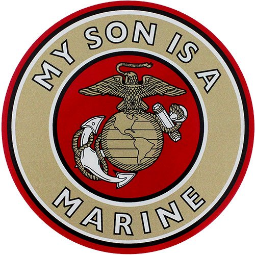 My Son Is A Marine Clear Decal