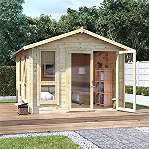 12x10 Log Cabin Kit 28mm Garden Room