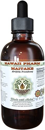 Maitake Alcohol-Free Liquid Extract, Organic Maitake Grifola Frondosa Dried Mushroom Glycerite Natural Herbal Supplement, Hawaii Pharm, USA 2oz