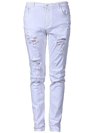 Blanc et Blanc Homme Vêtements Skinny Jeans Idopy qwgxTSg