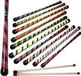 Flames N Games TWISTER Devil Stick Set (3-Color Deco) WOODEN Sticks! Juggling Devil sticks 4 Beginners & Pro's! (Orange/Black/Blue)
