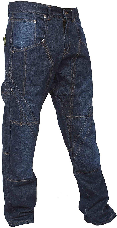 Qaswa Uomo Moto Pantaloni Moto Biker Jeans Rinforzato Aramid Protezione Cargo Moto Jean