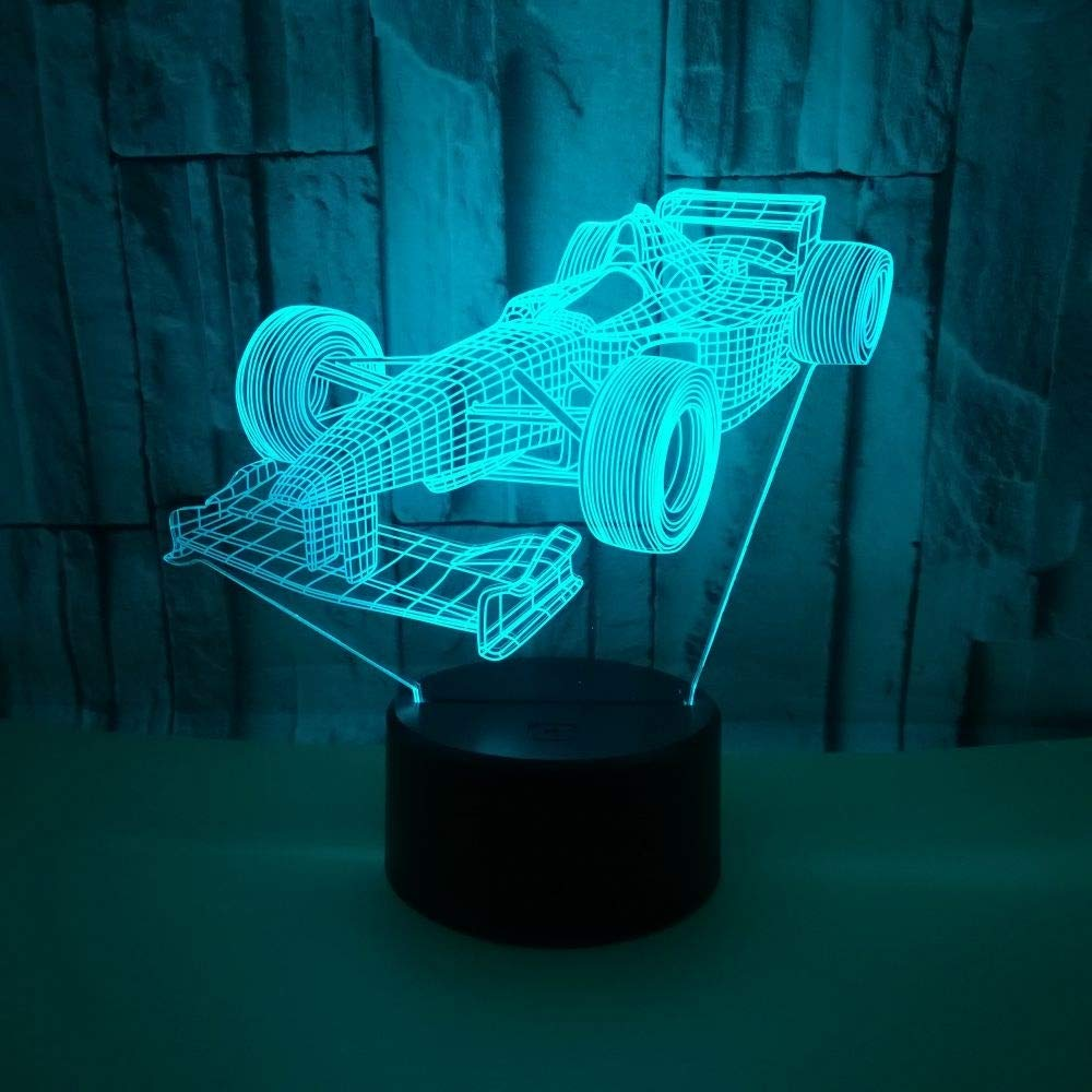 Lanbba Racing Colorful Colorful Colorful Usb 3D Night Light Led Acrílico Visual Estéreo Visual Light Touch Remoto 3D Light efc2b2
