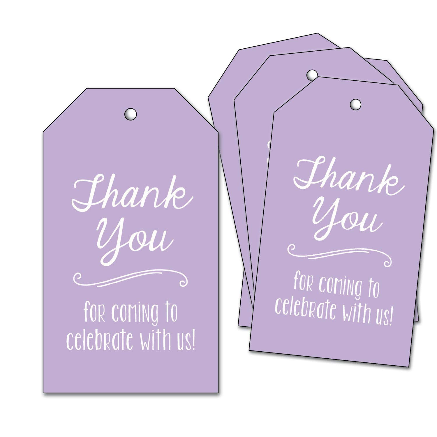 25 Thank You Tags - for Baby Shower, Wedding, Bridal Shower, Birthday Party Supplies - Lavender