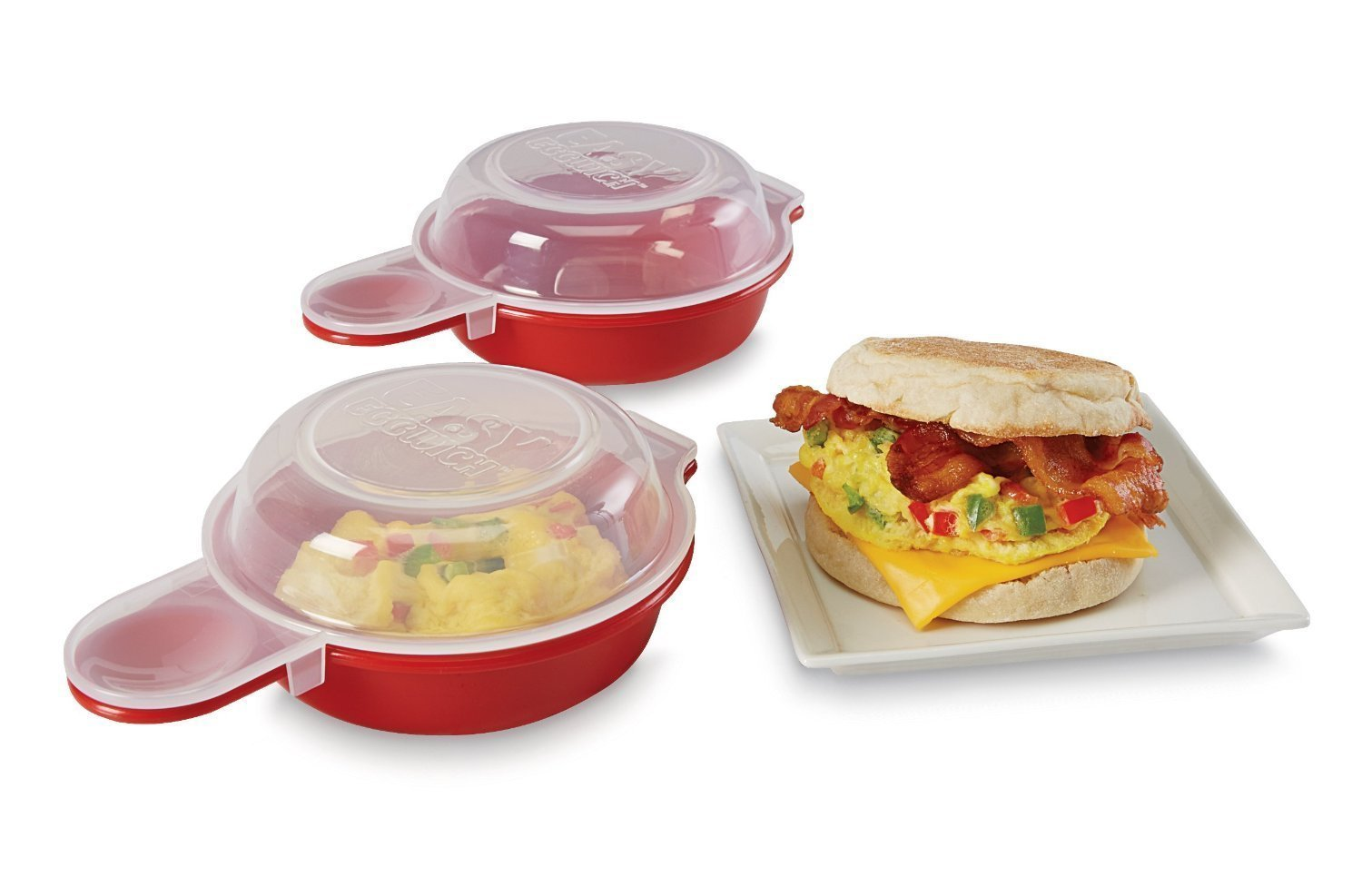 Easy Eggwich Microwave Eggs 'n Muffin Breakfast Pan- Set Of 2 by NYC Home Design