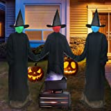 ORIENTAL CHERRY Halloween Decorations Outdoor - Light Up Holding Hands Screaming Witches Sound-Activated Sensor (Set of…