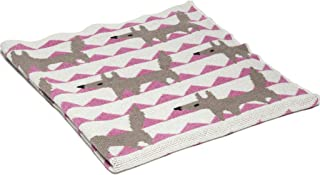 product image for in2green Baby Fox Eco Throw - Pink