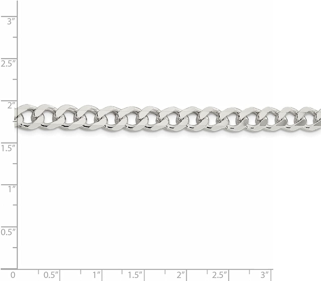 Lex /& Lu Sterling Silver 7.5mm Curb Chain Bracelet or Necklace