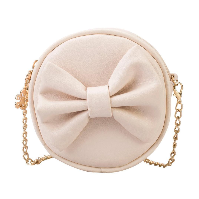 Girls Baby Kids Kindergaten Toddler Princess Shoulder Bag Handbags Mini Crossbody Bag Packet Backpack (Beige)