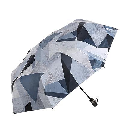 Shirleyle Creativo Plegable Paraguas para el Sol Diseño Simple para Hombre y para Hombres Portátil sombrilla