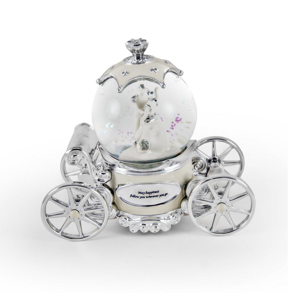 お気にいる Romanticパールホワイト、アイボリーとシルバーFairy Tale Snow Globe All Carriage 199. It's Snow World A Small World After All LRC-60341 B075VS3498 199. It's A Small World After All, アスノーカ:19f34593 --- arcego.dominiotemporario.com