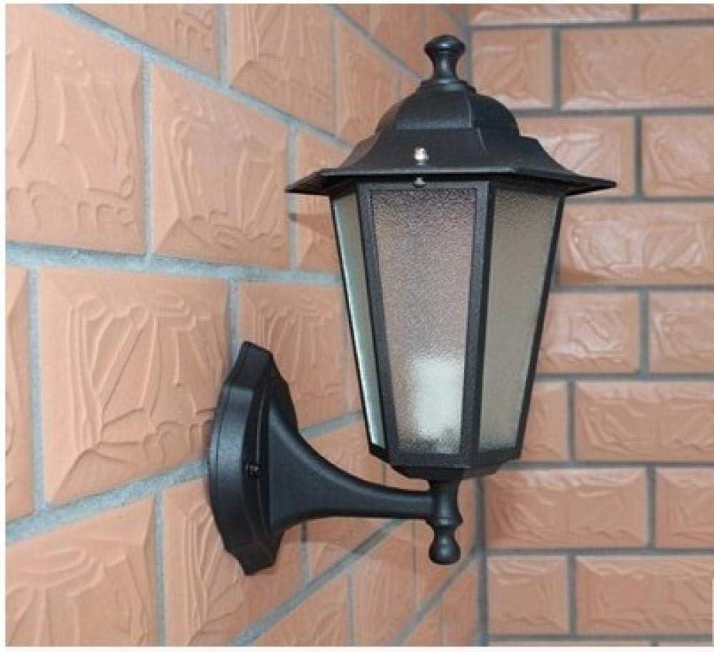 Lámpara de pared impermeable al aire libre simple retro industrial antorcha de hierro pasillo casa puerta lámpara de pared-Color del cuerpo_Talla S