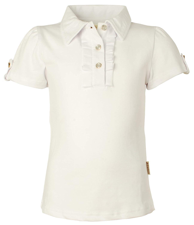 Ipuang Girl Short Sleeve Cotton Ruffle Polo Shirt Top