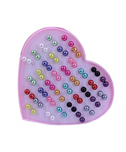 qingsb - Orecchini da donna con perle finte, a perno, anallergici, colorati, a forma di sfera, confezione da 36 paia e Acciaio inossidabile, colore: Mixed Color 8mm, cod. 9EPN021QBXOVAJ5G5A0