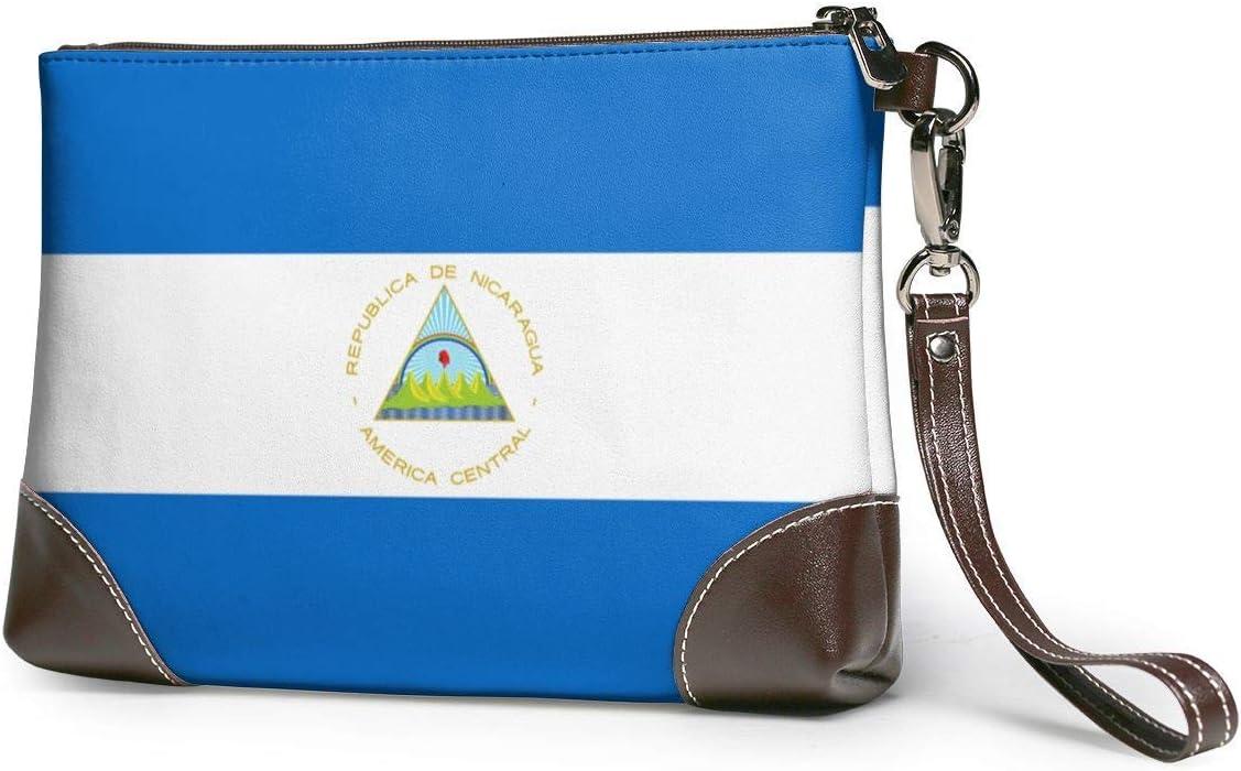 BFDX Monederos Carteras para teléfonos con Embrague Bandera de Nicaragua Monederos pequeños de Cuero Bolso de Mano