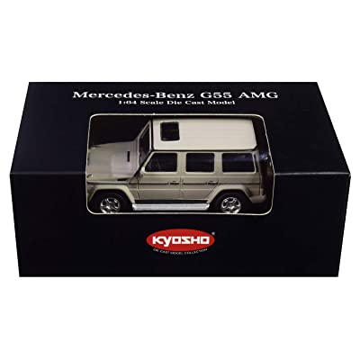 Mercedes Benz G55 AMG Gray 1/64 Diecast Model Car by Kyosho K07021G10: Toys & Games