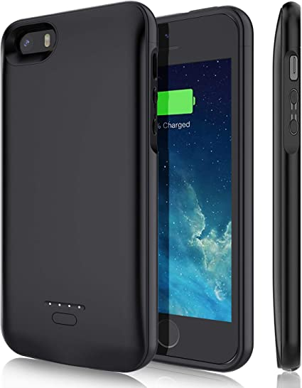 Amazon.com: YISHDA - Funda con batería para iPhone 5/5S/SE ...