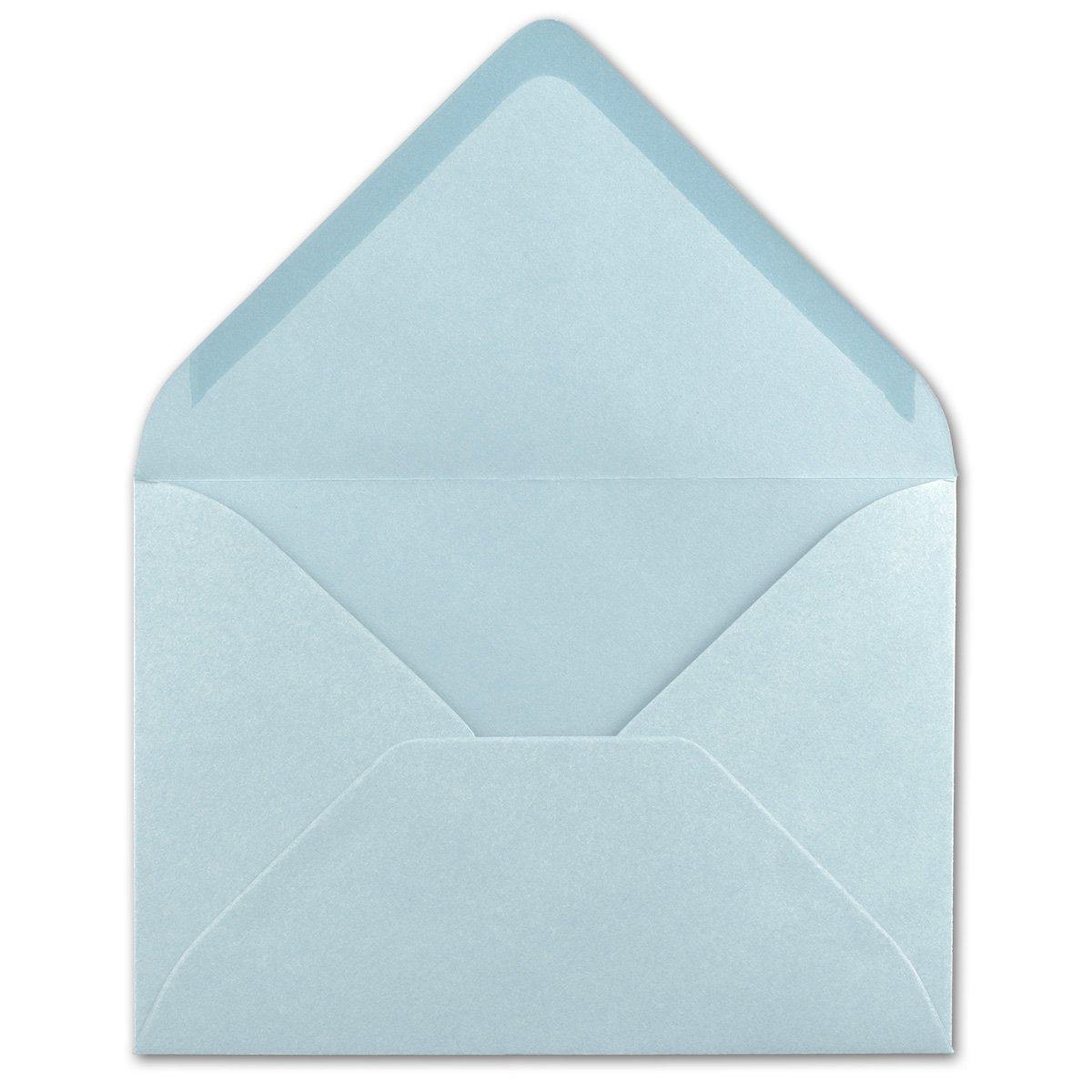 Serie FarbenFroh/® Gru/ßkarten 25 St/ück Nassklebung ohne Fenster Weihnachten DIN C5 Kuverts 22,0 x 15,4 cm Brief-Umschl/äge in Hellblau