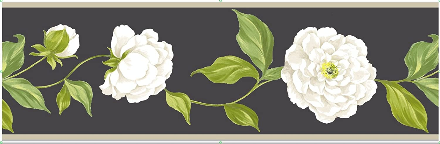 Fine Decor 173 mm Camelia Border, Black FDB07510S