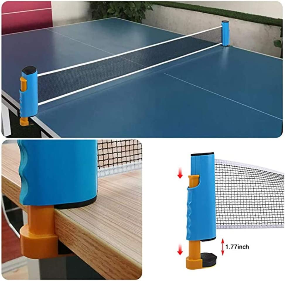 Premium Storage Case 2 Ping Pong Paddles//Rackets All-in-ONE Ping Pong Set,Includes Ping Pong Net for Any Table Portable Table Tennis Set 4 Star White Ping Pong Balls