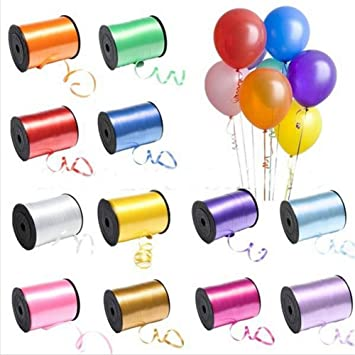 CURLING RIBBONS SILVER COLOUR BALLOONS RIBBONS HELIUM FOIL BIRTHDAY PARTYS