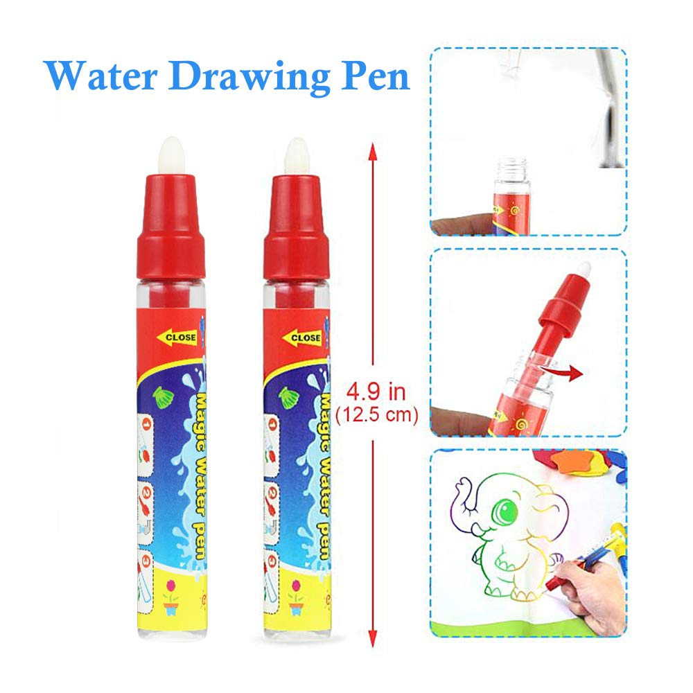 Red Coolplay Replacement Magic Water Drawing Pen Pack of 10