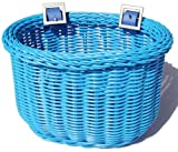 Colorbasket Kid's Front Handlebar Bike Basket,Blue