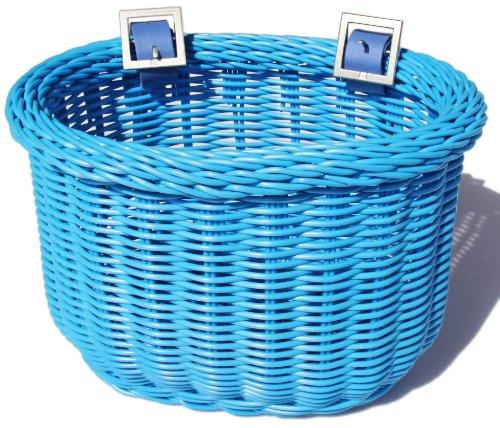 Colorbasket 01259 Kid's Front Handlebar Bike Basket, Blue