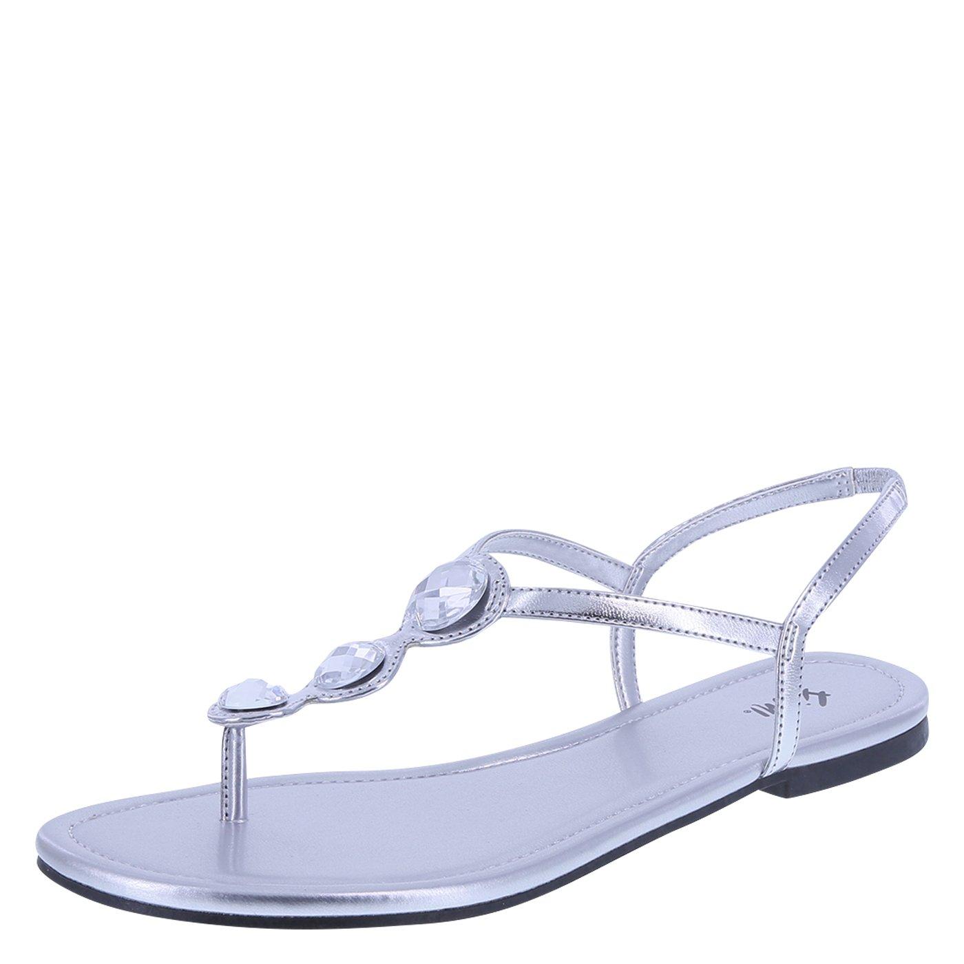 Fioni Women's Silver Women's Present Flat Sling 9.5 Regular